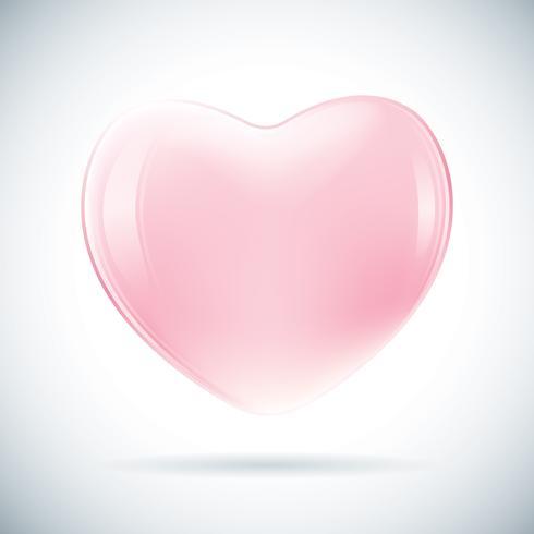 Forma de corazon rosa