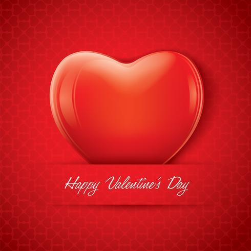 Rote Valentinsgrußherzform