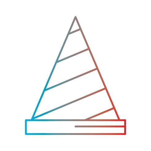 Ilustración de pictograma o icono de degradado de línea perfecta