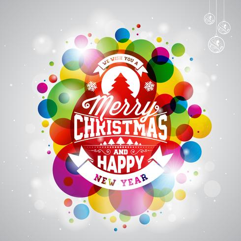 Illustration de joyeux Noël vacances