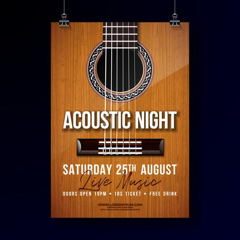 Acoustic Night Party Flyer Design