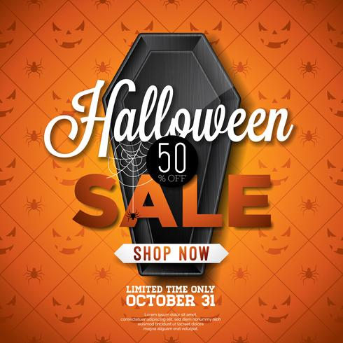 Ilustración de venta de Halloween vector