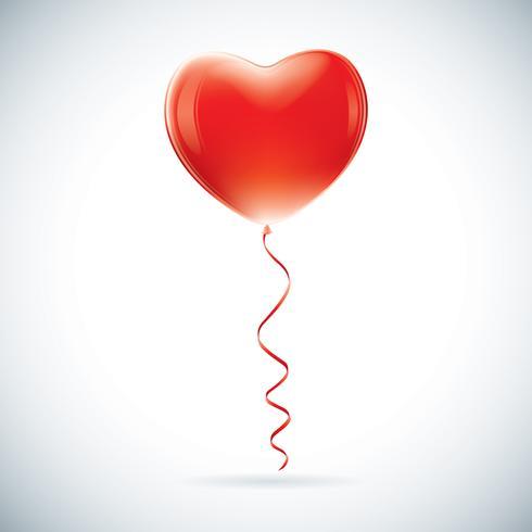 Hjärtformad ballong