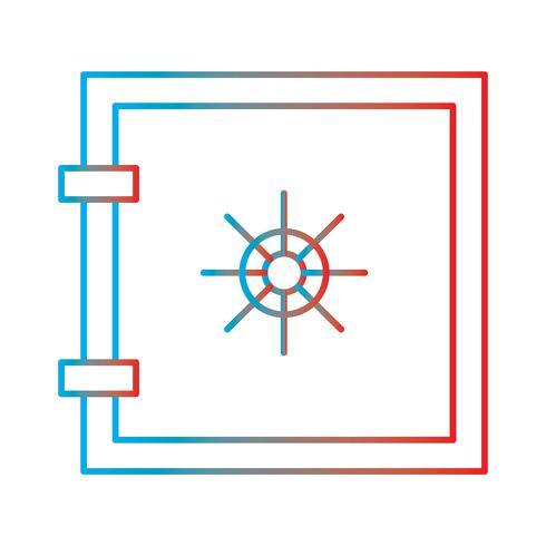 Ligne gradient icône parfaite vecteur ou pictogramme illustration
