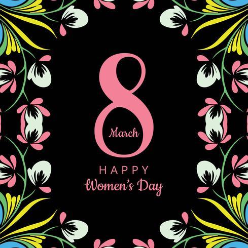 Happy Women's Day celebration background