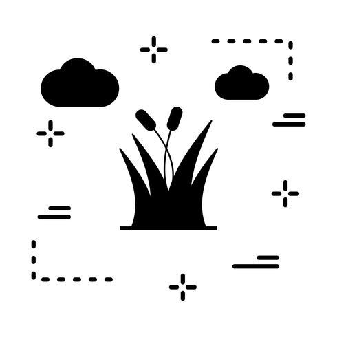icono de vector de hierba