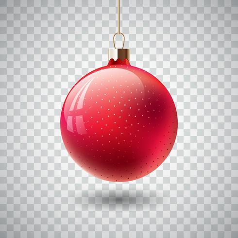 Ornamento rojo aislado de la Navidad vector