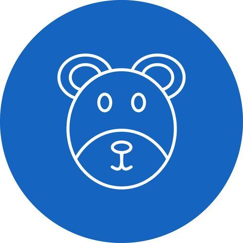 Icona dell'orso vettoriale