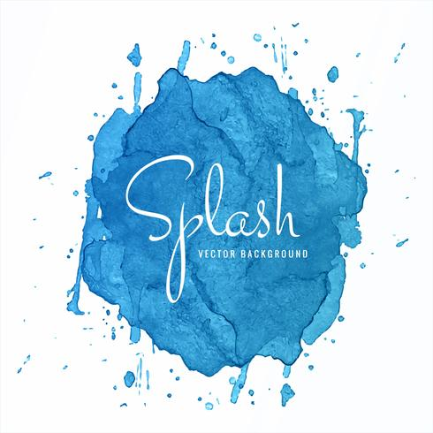 Beautiful Blue Watercolor Splash Design vector