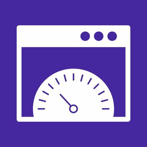 icona della velocità del browser vettoriale