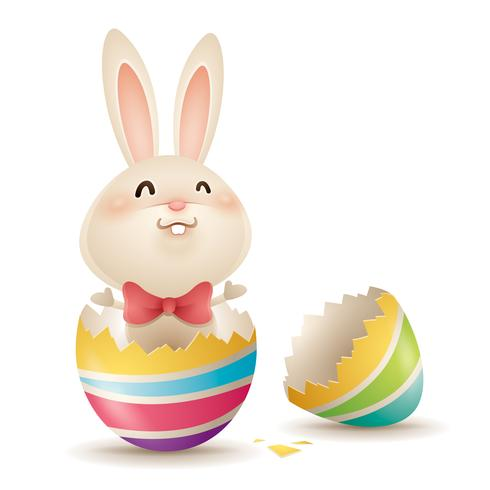 Easter bunny popping out