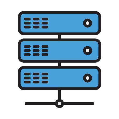 vektor server ikon