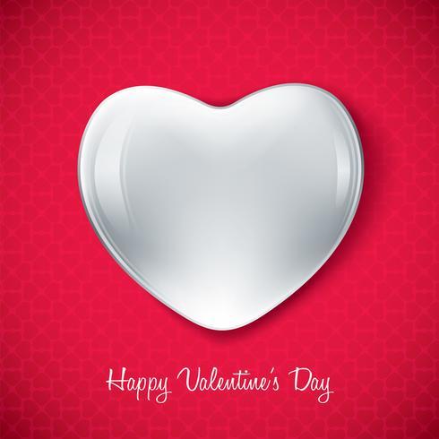 Forma de corazón de San Valentín blanco