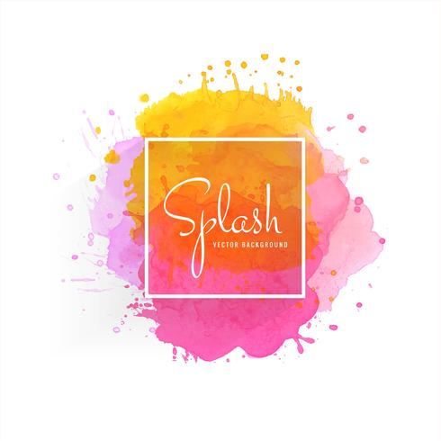 Hand drawn colorful soft watercolor splash vector