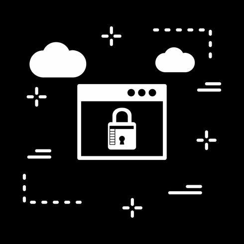 vector pictogram voor browservergrendeling