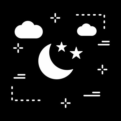 vector stars and moon icon