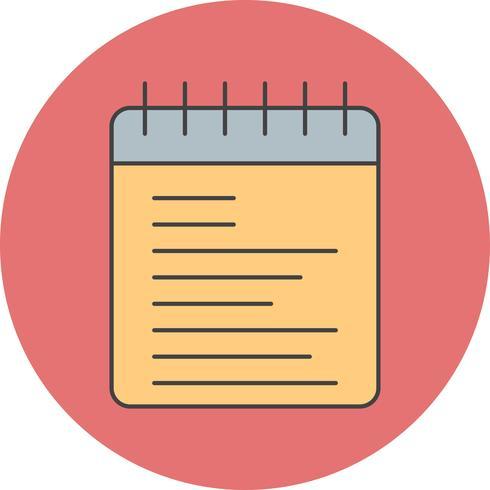 ícone de bloco de notas de vetor