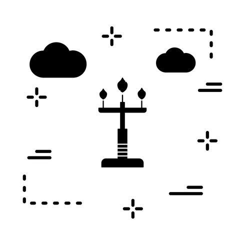 vector lamp icon
