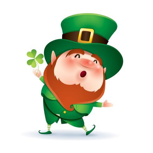 lutin Cartoon en chapeau haut de forme vert