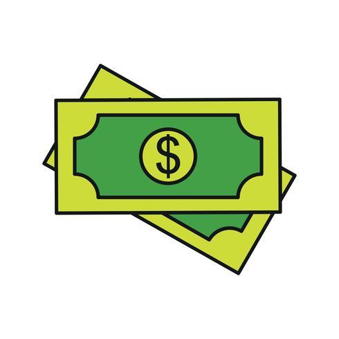 icona del dollaro vettoriale