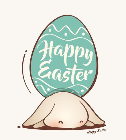 Lapin de Pâques et oeuf de Pâques