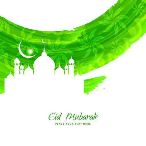 Abstract Eid Mubarak background