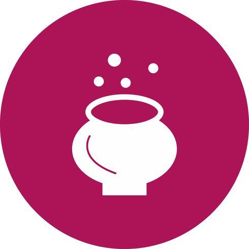 icône de chaudron de vecteur