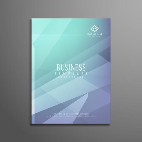 Modèle de brochure métier abstrait polygone coloré