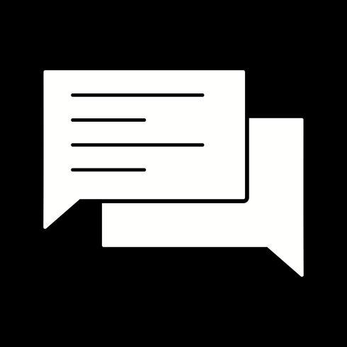 icono de chat vector