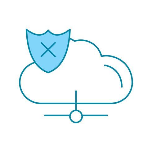 vector cloud onveilig pictogram