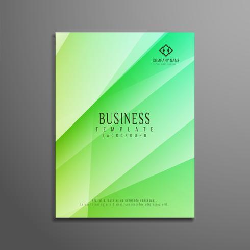 Abstracte kleurrijke veelhoek elegante zakelijke brochure