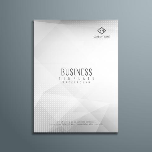 Abstract grey business flyer template