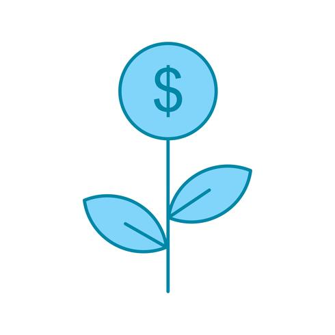 vector dollar plant pictogram