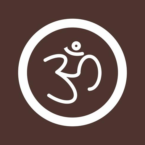 icono de signo hindú de vector