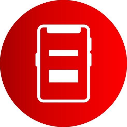 Vector mobiele pictogram
