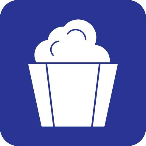 icône de pop-corn de vecteur
