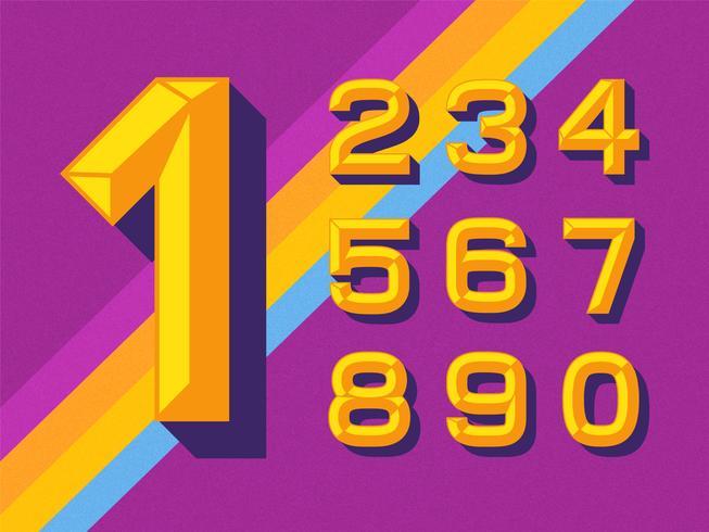 Platte gouden beitelnummers