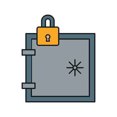 vector locker icon