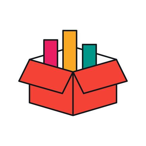 icono de caja de carga de vector