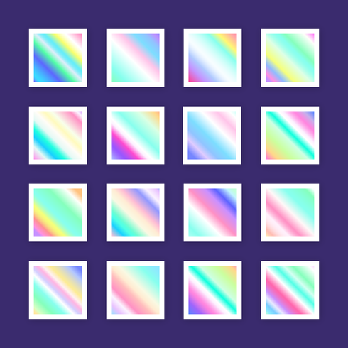 Holographic Gradient Swatches Vector - Download Free Vector Art, Stock Graphics & Images