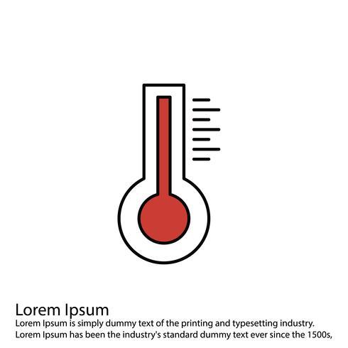 Icona del termometro vettoriale
