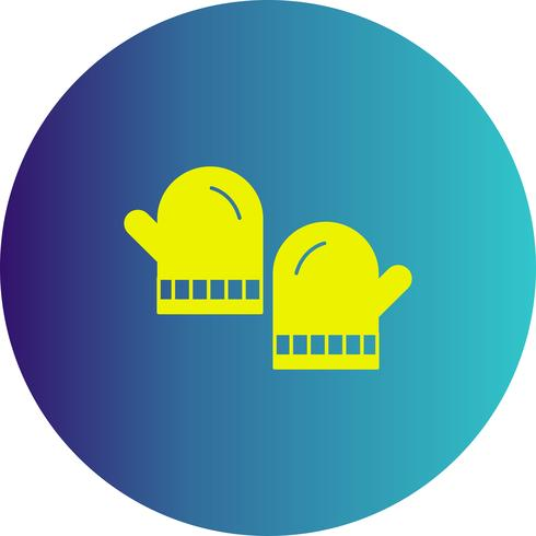 vector gloves icon