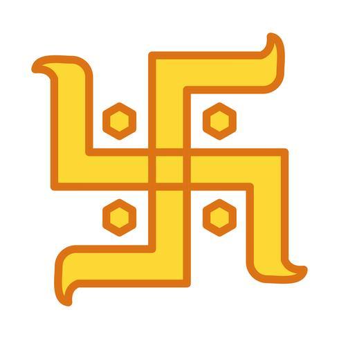 vector hindoe teken pictogram