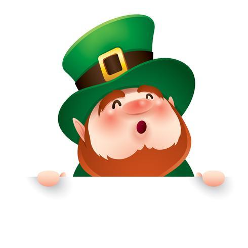 cartoon leprechaun in green top hat