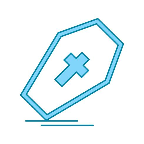 vector coffin icon