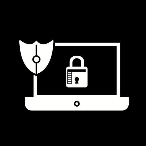 vektor laptop lås ikon