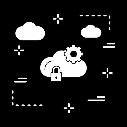 Vektor Wolke Einstellungssymbol