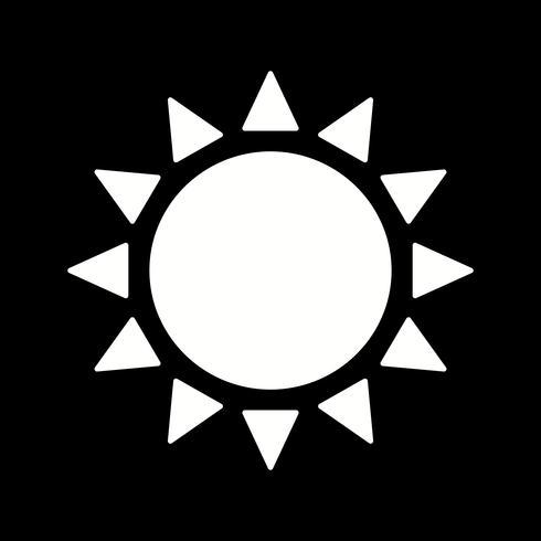 ícone do sol de vetor