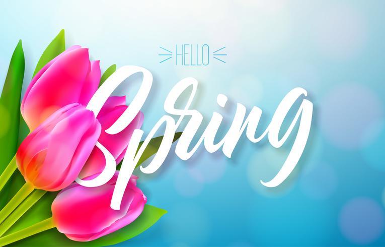 Hello spring nature design