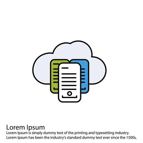 Icona della nube di vettore